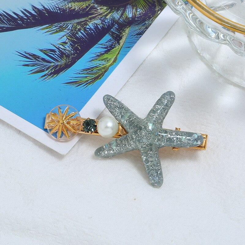 estrela do mar conchas pérola grampos de
