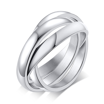 Women's Stainless Steel Ring Jewelry Rings Women Jewelry Ring Size: 6 Main Stone Color: Silver