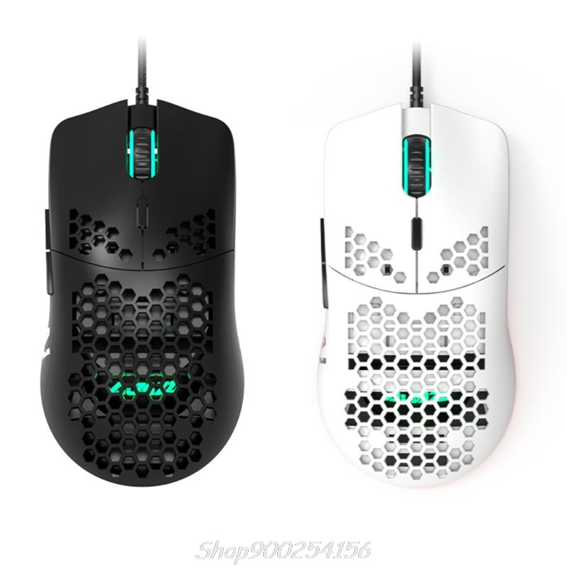 Aj390 com fio de pouco peso mouse oco-para fora gaming mouce ratos 6 dpi ajustável para windows 2000/xp/vista/7/8/10 sistemas au19 20