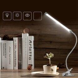 Lampka do czytania LED USB Clip on elastyczna lampa biurkowa możliwość przyciemniania stolik nocny Light Desktop Light