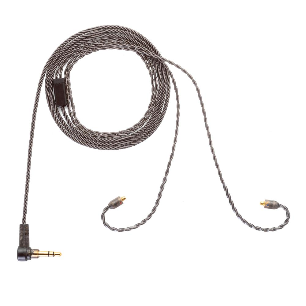 ALO Original Andromeda Smoky Litz Cable New 4-strand Silver Plated Copper Earphone Wire MMCX 3.5mm Plug Headset Upgrade Cable