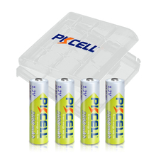 4PC x PKCELL AA Batteries NI MH 2600Mah 1.2V AA Rechargeable Battery Batteries 2A Bateria Baterias with AA Battery Hold Case Box