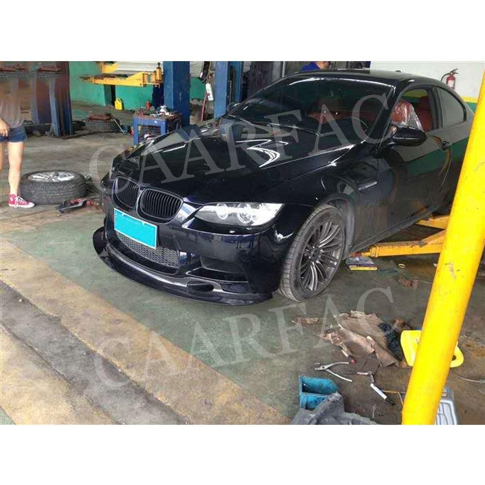 De fibra de carbono labio delantero parachoques Spoiler para BMW Serie 3 E90 E92 E93 M3 cabeza Protector de barbilla 2009 de 2010 a 2011 2012 estilo de coche - 4