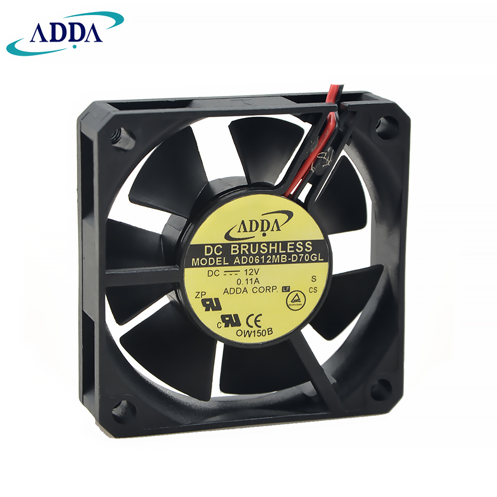 For ADDA AD0612MB-D70GL 6015 DC 12V 0.11A <font><b>60</b></font>*<font><b>60</b></font>*15 <font><b>mm</b></font> DVR <font><b>fan</b></font> power supply <font><b>fan</b></font> image