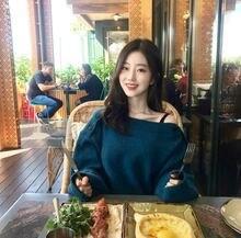 Толстый зимний свитер с вырезом лодочкой Женский пуловер топы