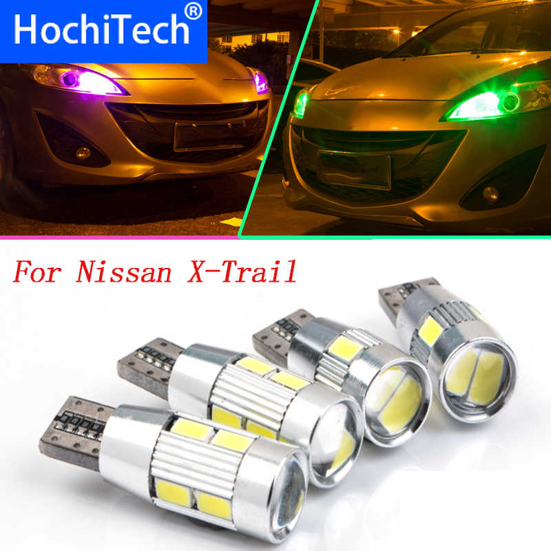 1pc Veilig T10 Licht W5W Voor Nissan X Trail (T30) X Trail (T31) LED Front Parking Light Front Side Marker Lichtbron Car Styling