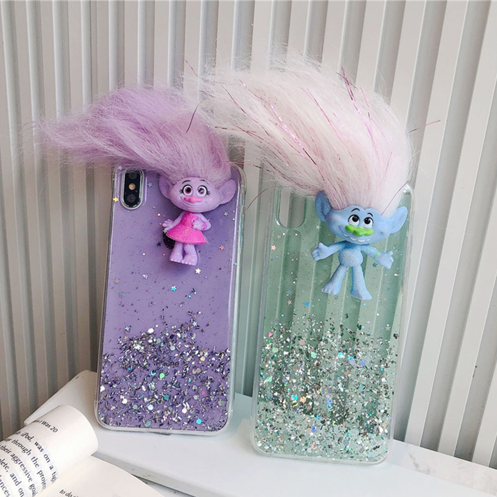 Troll doll mobile phone case for Xiaomi 10 Samsung S20 plus Note 20 Cellphone protective cover troll doll Samsung case
