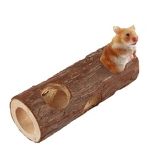 Hamster-Tunnel Tube Juguetes Guinea-Pig Rabbit for Toys Wooden Natural