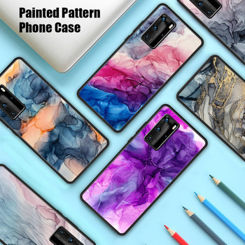 Painted Art Ink Case for Huawei P30 Pro P40 Lite Case for Huawei Nova 5T P20 Pro Anti-Fall Shockproof Luxury Soft Cover image