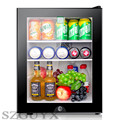 GUYX 40L hotelkamer speciale kleine koelkast mini vriezer transparante glazen deur vriezer thee verse kabinet