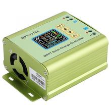 MPPT Solar şarj regülatörü LCD ekran lityum pil 24V 36V 48V 60V 72V Boost 0 10A GÜNEŞ PANELI şarj cihazı regülatörü MPT 7210A