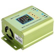 MPPT الشمسية جهاز التحكم في الشحن شاشة الكريستال السائل بطارية ليثيوم 24 فولت 36 فولت 48 فولت 60 فولت 72 فولت دفعة 0 10A لوحة طاقة شمسية شاحن منظم MPT 7210A