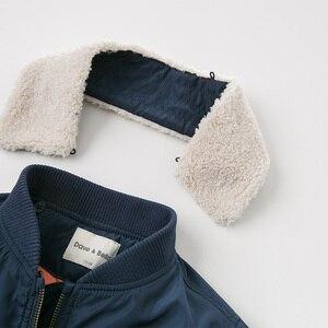 Image 5 - Dbk10691 데이브 벨라 겨울 아이 소년 재킷 면화 의류 어린이 겉옷 패션 해군 지퍼 코트