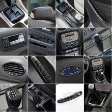 Araba Styling aksesuarları dış iç karbon Fiber dekoratif Trim Sticker trim ford kılıfı odak 2 mk2 2005 2008