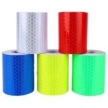 100cm X 5cm cinta de advertencia pegatinas Reflector de luz de advertencia pegatina protectora película reflectante marca de seguridad de coche reflectante