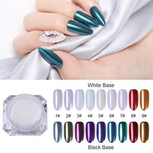 Image 1 - 1g Spiegel Glitter Schimmer Pulver Nagel Chrom Pigment Dazzling Salon Micro Pulver Laser Nail art Dekorationen