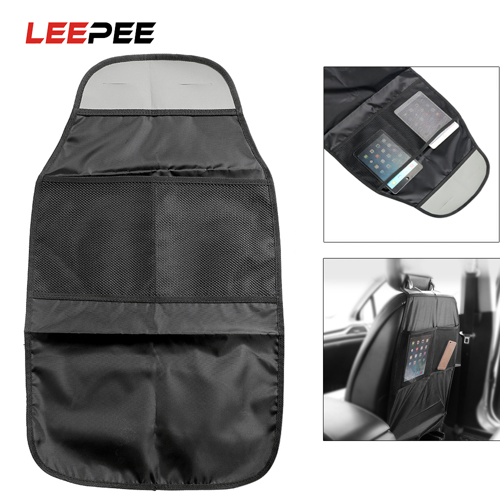Car Seat Back Organizer Protector Bag Holder Baby Child Kick Anti Dirty Mat Automobiles Seat Covers Storage Food Drink Bottles