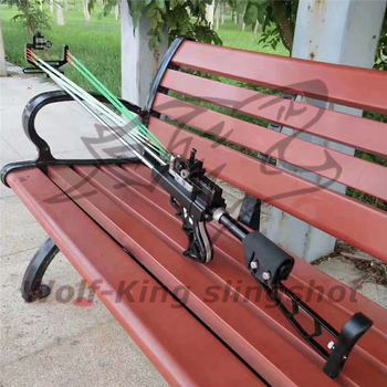 Wolf King Powerful catapult Hunting Slingshot Rifle Double Safety Device Stainless Steel Sight For Shooting Outdoor WK01 4