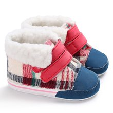 958 Cute Soft Sole Baby Moccasins Canvas Child Shoes Comfortable Bootie Winter Warm Infant Toddler Crib