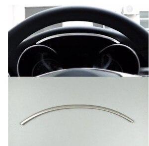 Image 3 - غير القابل للصدأ الصلب لوحة سيارة قطاع الكسوة لمرسيدس بنز C الفئة W205 GLC X253 2015 2018 اكسسوارات السيارات الداخلية
