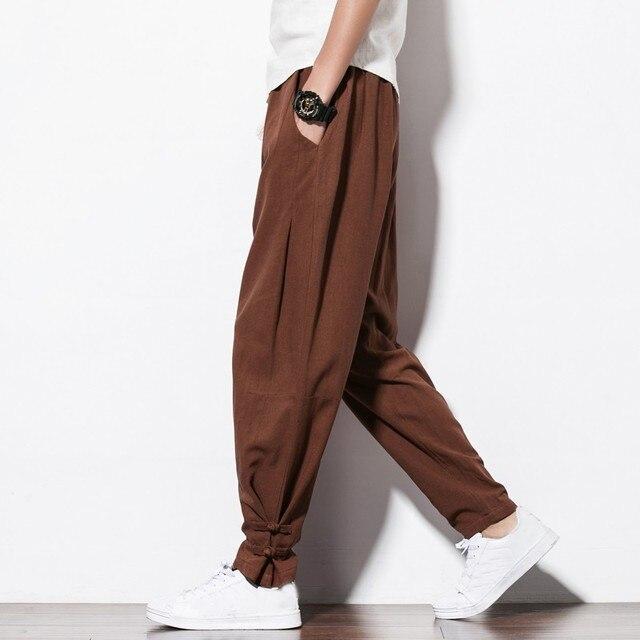 New Brand Man Clothes 2020 Autumn Male Trousers Loose Cotton Joggers Track Casual Sweatpants Winter Men Plus Velvet Pants 3