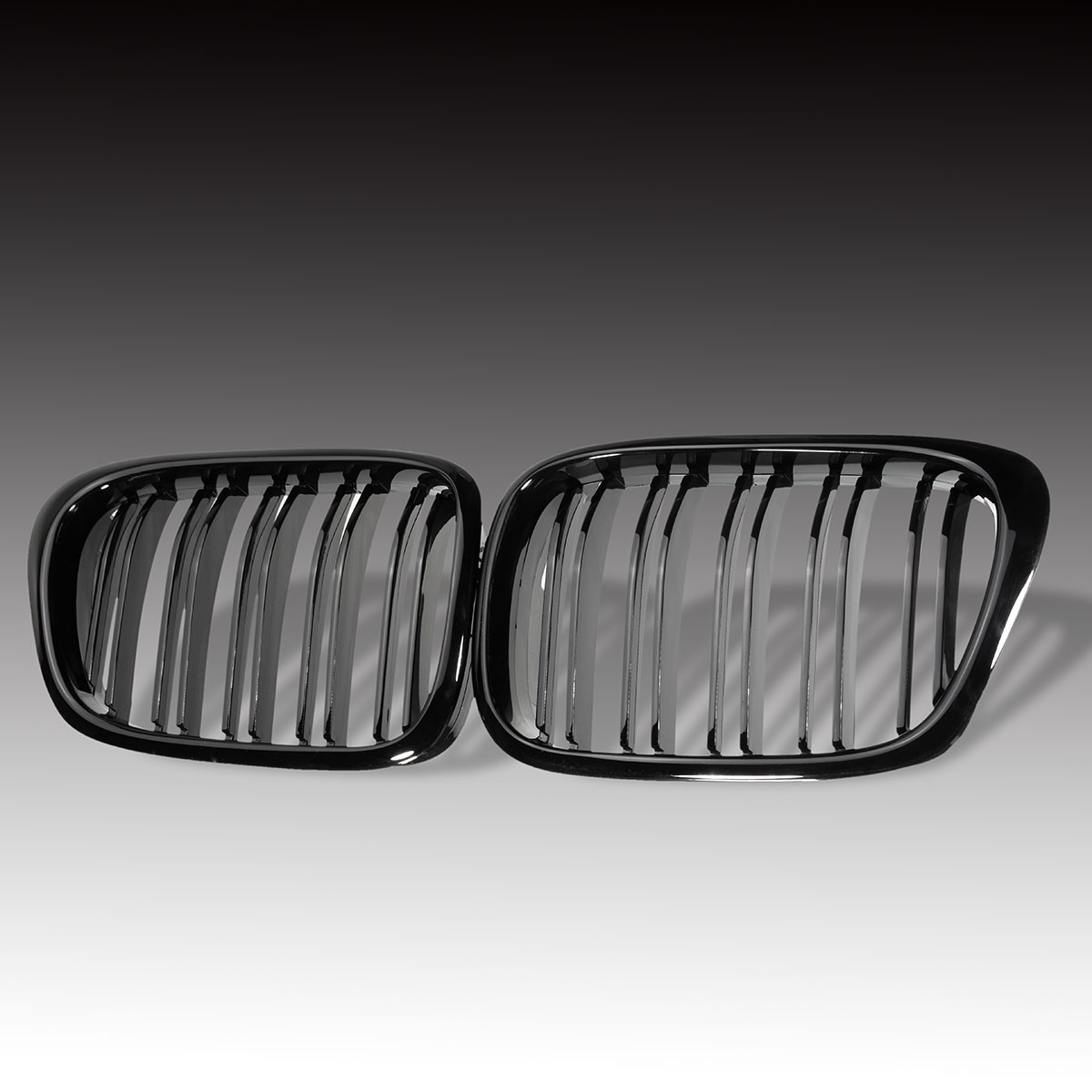 Pair Gloss Black Auto Front Kidney Grille Grilles For BMW E39 M5 5 Series 525i 528i 530i 540i 1995-1999 2000 2001 2002 2004