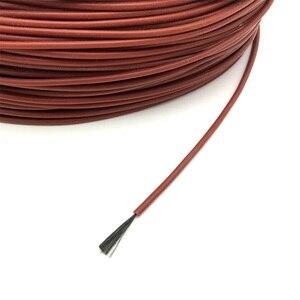 Image 5 - Cabo de aquecimento de fibra de carbono do termostato da sala de assoalho quente infravermelho distante da borracha do silicone vermelho