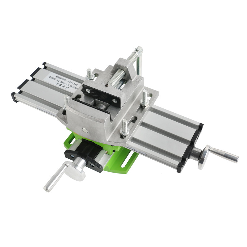 Precision Multifunction Milling Machine Bench Drill Vise Worktable X Y-axis Adjustment Coordinate Table+2.5