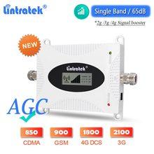 Lintratek – amplificateur de Signal AGC 4G LTE DCS 2021 WCDMA 1800 GSM 2100, répéteur de réseau de téléphonie mobile, mis à niveau, 900