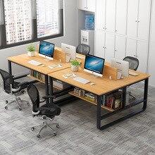 Минималистский современный офисный стол персонал четыре человека бит сборка офисная мебель Рабочая позиция экран сочетание yuan gong zhuo
