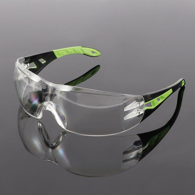 Óculos de proteção do vento e à prova de poeira glassesanti-segurança claro anti-impacto fábrica laboratório ao ar livre óculos de trabalho 1