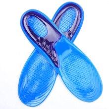 1 пара большого размера ортопедическая стелька-ступинатор массажный силиконовый Противоскользящий Гель Мягкие стельки для кроссовок коврик для мужчин женские стельки