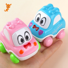 1pc Inertia Pull Back Cartoon Car Kids Birthday Party Toys for Boys Funny Baby Kids Educational Model Plastic Toy Gift недорого