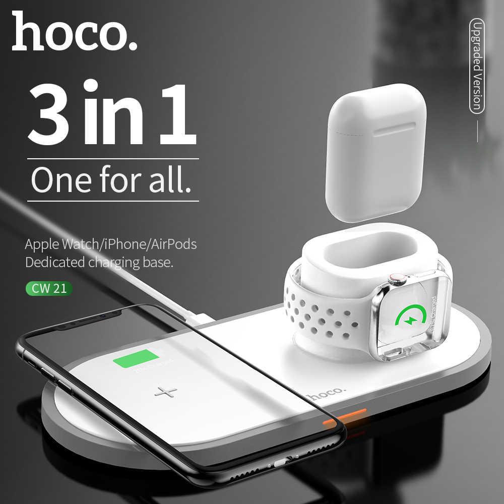 Bezprzewodowa ładowarka HOCO dla iPhone X XR XS 8 Qi