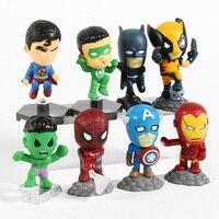 Superheroes Set of 8 Mini Figures 3