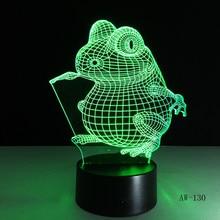 Big Eye Frog  Animal 3D Night Light neon lamp Home Decor USB Table Lampara Office AW-130