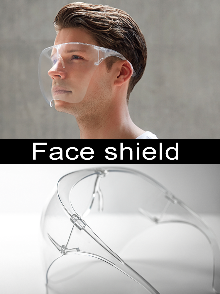 Universal Face Shield Helmet Breathable Transparent Anti-Fog Anti-Shock Scratchproof Stylish Durable Protect Safety Mask Helmet