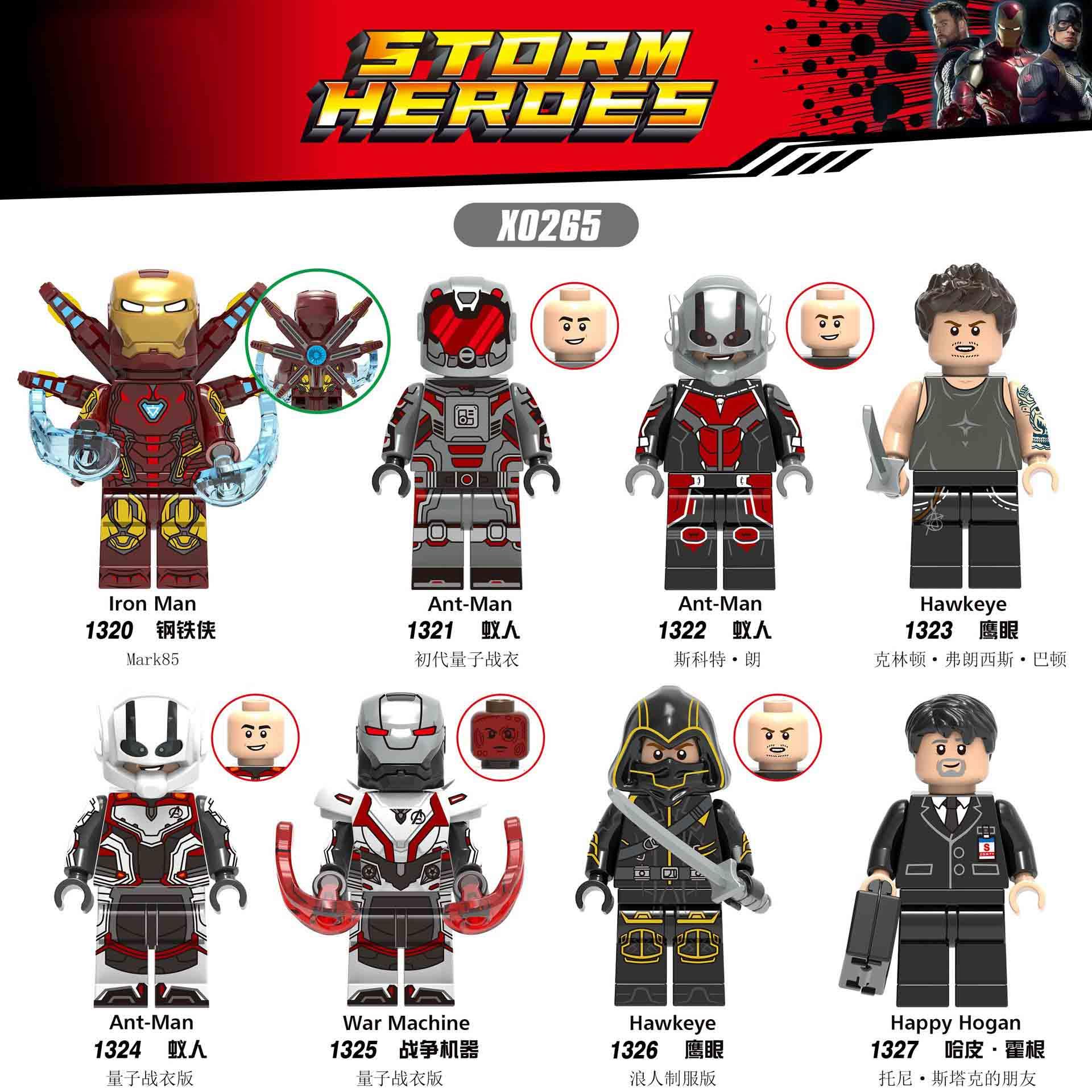 X0265 LegoING Toy Super Hero AvengersING Iron Man Ant Man War Machine Hawkeye Hapy Hogan Building Blocks Human Collection Gift