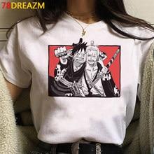 Uma peça luffy t camisa das mulheres harajuku kawaii harajuku gráfico tees mulheres estéticas casual tshirt t camisa harajuku