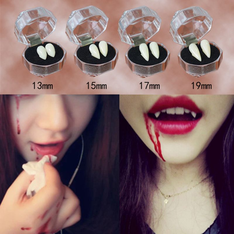 Adult Kids Halloween Party Costume Horrific Dress Vampire False Teeth Fangs Dentures Cosplay Photo Props Favors DIY