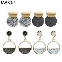 Acrylic Marble Drop Earrings Geometric Circular Women Fashion Jewelry