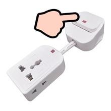Prise universelle multiprise ue royaume uni prise AU avec interrupteur contrôle rallonge adaptateur câble Conversion pour appareils