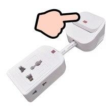 Universal SOCKET Power Strip EU UK AUปลั๊กสวิทช์ควบคุมสายไฟอะแดปเตอร์แปลงสายเคเบิลสำหรับเครื่องใช้ไฟฟ้า