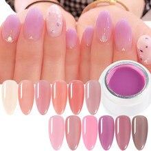 6ml Opal Gelee Gel Nude Farbe Gel Nagellack Transluzenten Rosa Tränken-Weg UV Gel Lacke Für Nägel gellak Für Maniküre GL1777