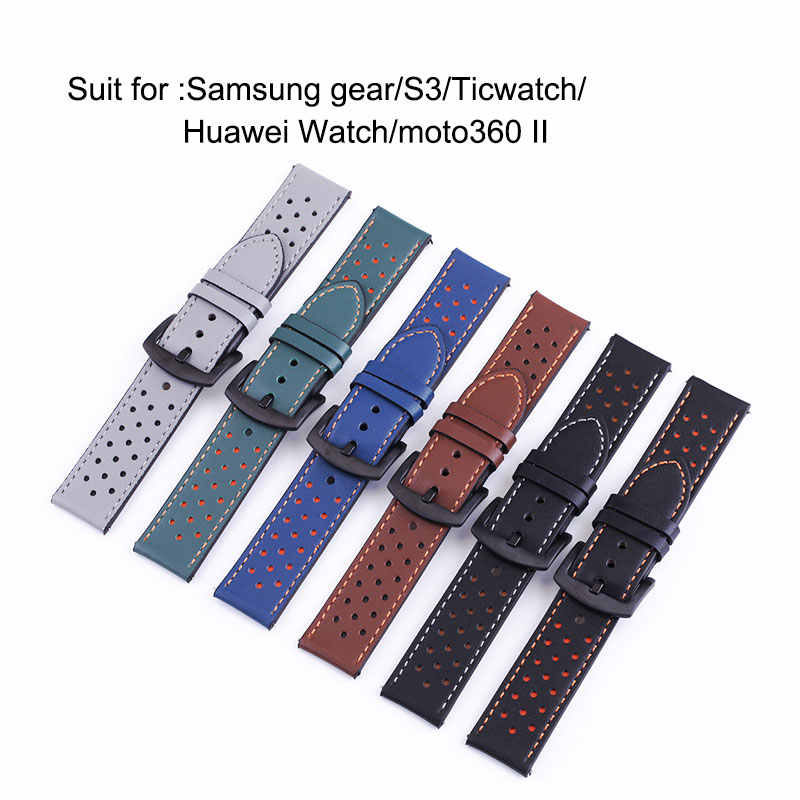 อุทัย P10 20 มม.สายนาฬิกา CLASSIC หนัง 22 มม.นาฬิกาหนังนาฬิกาสายสวิทช์หูนาฬิกาจัดส่งฟรี