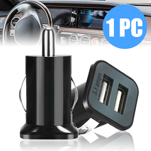 1PC Black Mini Dual USB Car Adapter 3.1A Digital Auto Vehicle Universal Charger For Smart Phone/Tablet DC12V-24V 5.0V-3.1A