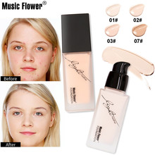 Музыкальный цветок полное покрытие Жидкая Основа 33 мл основа под макияж кремовый консилер увлажняющий BB крем натуральное отбеливание