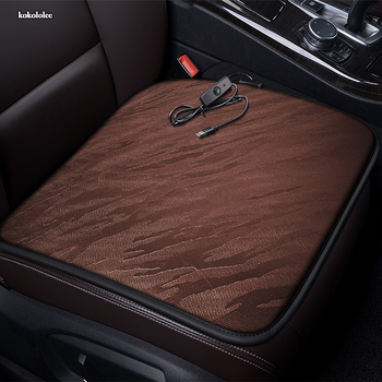 kokololee 12V Heated car seat cover for Ford all models kuga fiesta mondeo fusion focus ranger Everest Taurus Ecosport Winter image