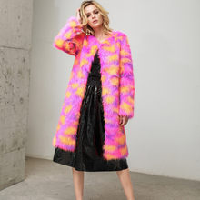 Women Fashion Boho Faux Fur Outerwear Cardigan Loose Button Pocket Coat 2019 pink Leopard Autumn Winter Furry Jacket bontjas #60(China)