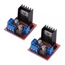 цена на 2X L298N DC Stepper Motor Driver Module Dual H Bridge Control Board for Arduino